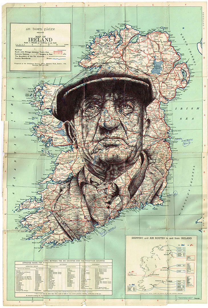Mark Powell vintage envelopes, maps drawings #artpeople